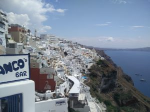Capital city of Santorini, Fira