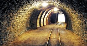 Mine underground tunnel
