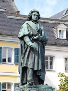 The most famous son of the city of Bonn: Beethoven.