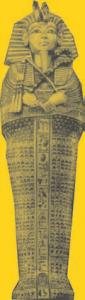 Tutankhamun's gold mummy case (photo by Lee Boltin)