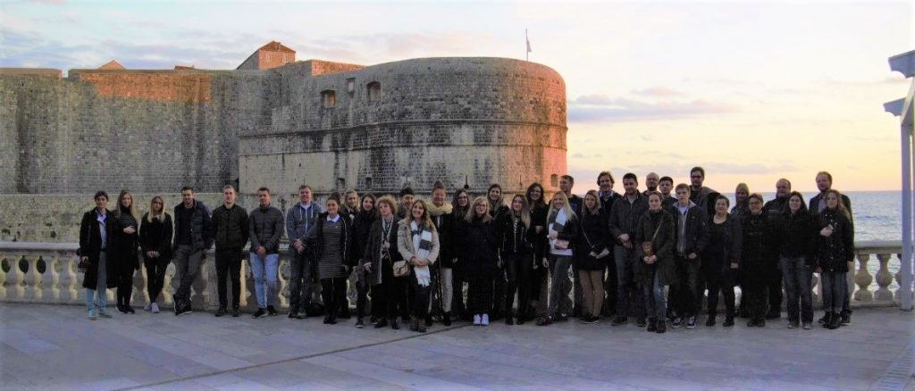 Group picture where Game of Thrones was filmed
